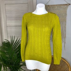 Banana Republic | Pistachio Cable Angora Sweater